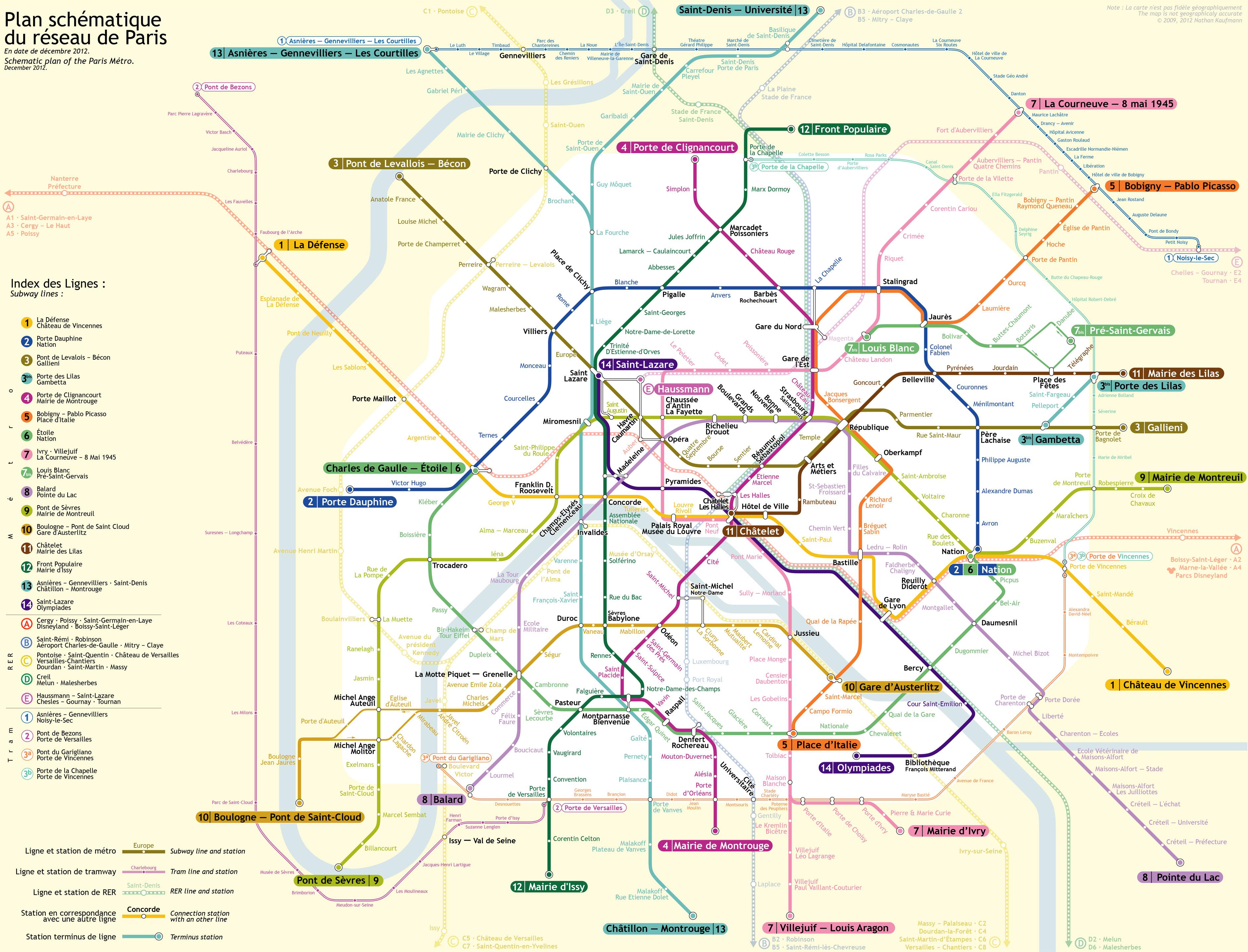 схема проезда на rer в диснейленд из центра парижа