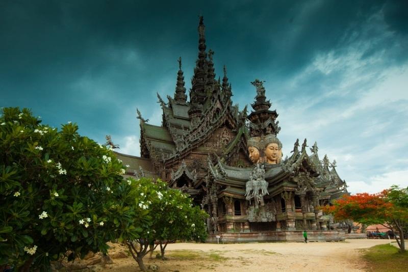 Храм истины в Паттайе, Тайланд (4)