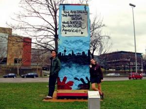 39. фрагмент Берлинской стены в Штутгарте