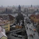 Карлов мост в Праге. Вид сверху