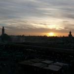 Zakat nad ploschadyu Dzhemaa-Al-Fna