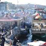Рыбные кафе возле Галатского моста