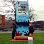 фрагмент Берлинской стены в Штутгарте